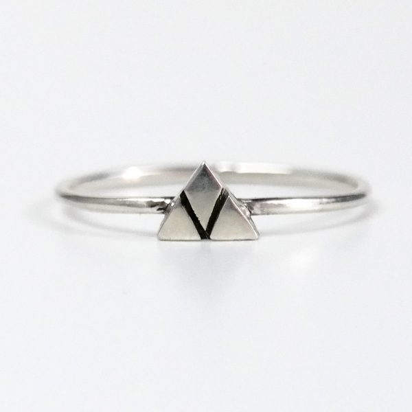 mountain ring silver small patina