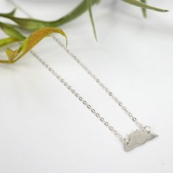 silver mountain necklace laydown