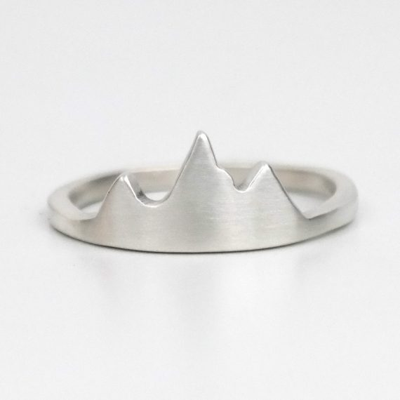 jackson hole mountain ring silver front