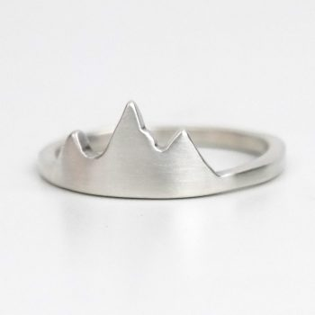 jackson hole mountain ring silver