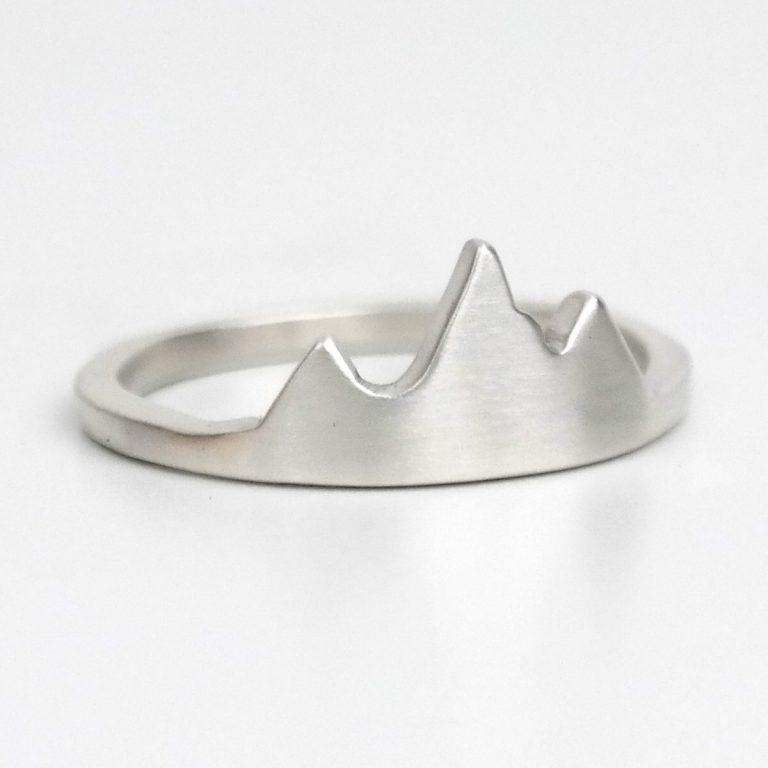 jackson hole mountain ring silver