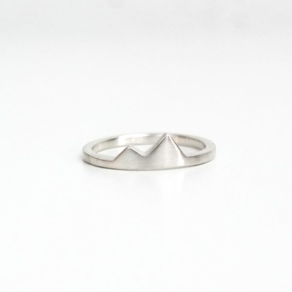 small silver mountain ring