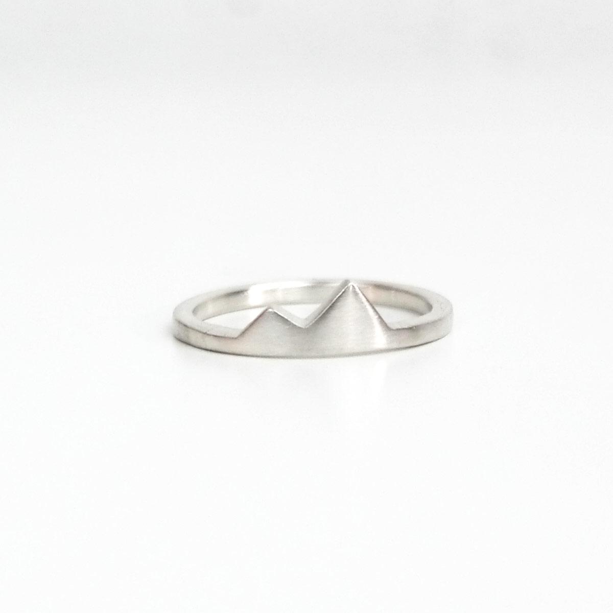 Best Friend Ring, Mountain Ring, Silver Ring, Wanderlust, Dainty ...