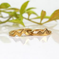 Gold mountain rings for best friends
