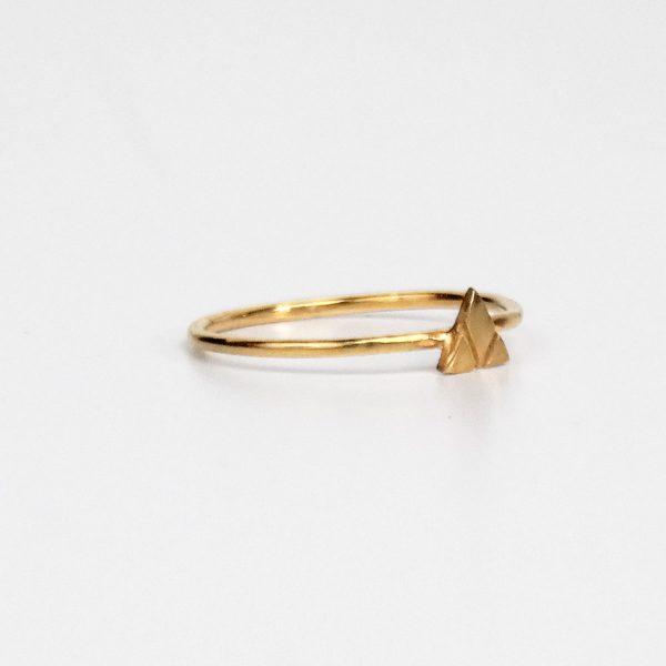 Gold Mountain Ring, Stacking Ring