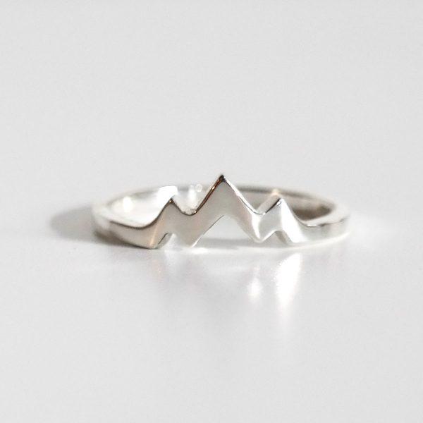Mountain Ring Silver Mountain Range