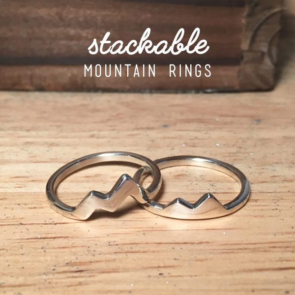 mountain rings sterling silver stacking