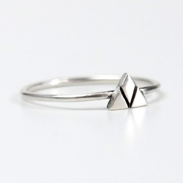 mountain ring silver small