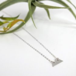 small silver mountain necklace laydown