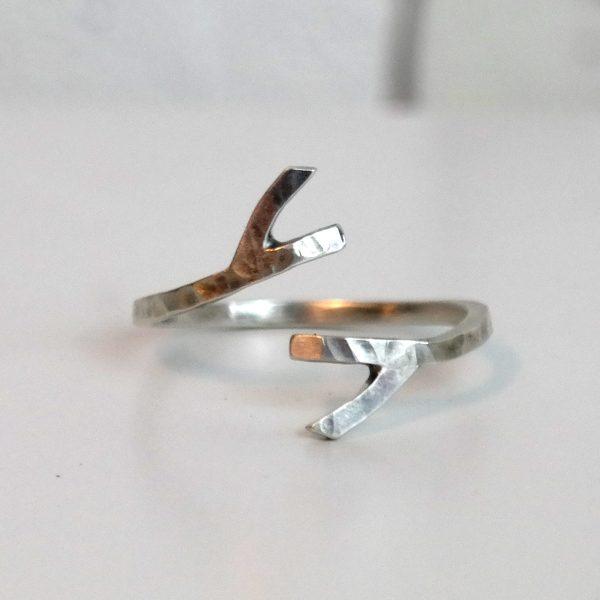 stick antler ring