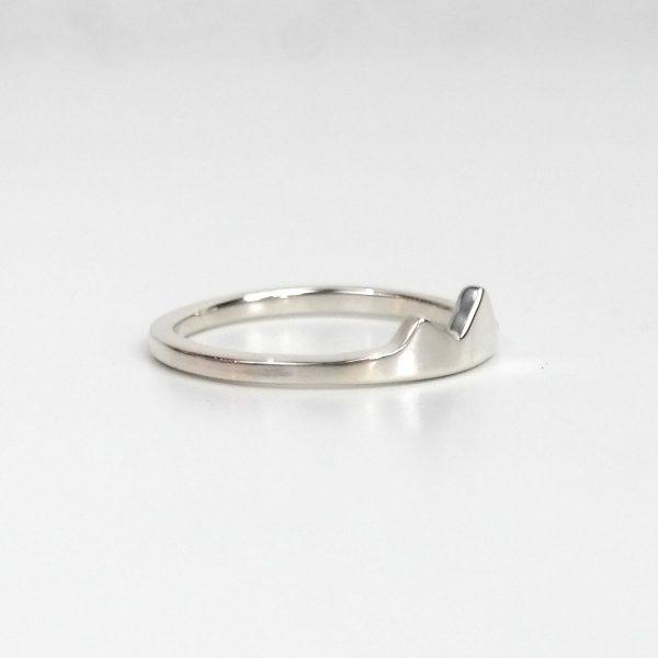 small silver mountain ring