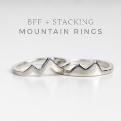 Silver mountain rings for best friends