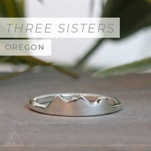 Custom Mountain Ring Three Sisters
